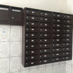 cutii postale bloc si cutie pliante negre
