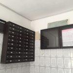 cutii postale bloc si cutie pliante negre si avizier bloc