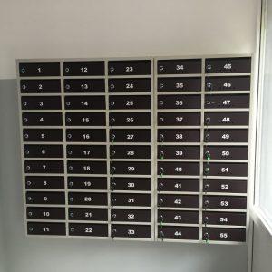 cutii postale si avizier pentru scara de bloc culoarea negru