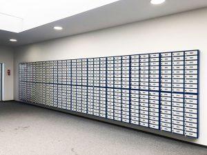 cutii postale si avizier pentru scara de bloc